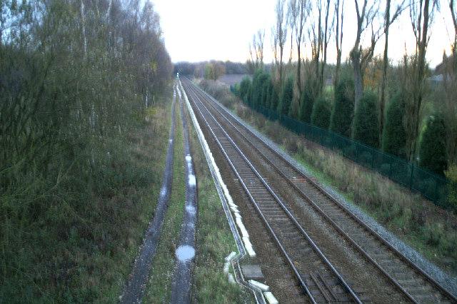 Wigan-St. Helens Railway near Hollin Hay Farm