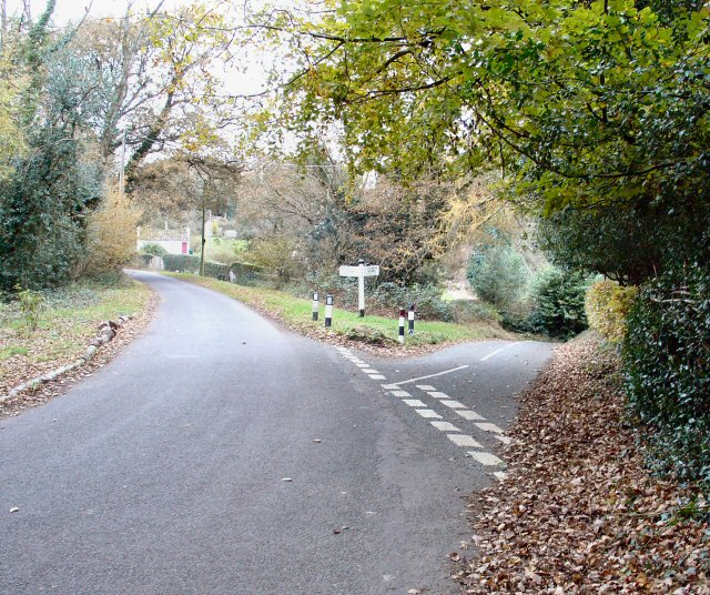 Junction of Spronkett's Lane and Minor road to E near Colwood, West Sussex