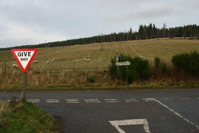 Road junction near Hatton