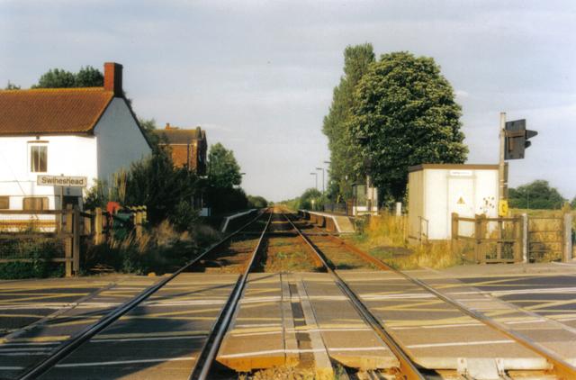 Railway Station and crossing, Swineshead, Lincs