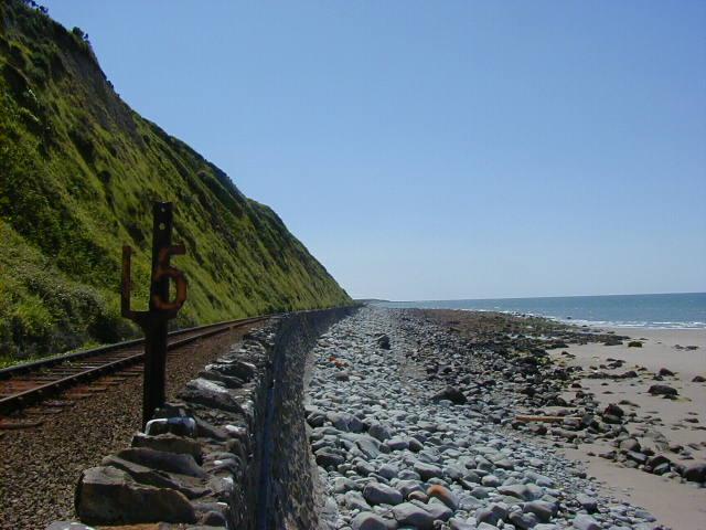 Railway along Harlech beach