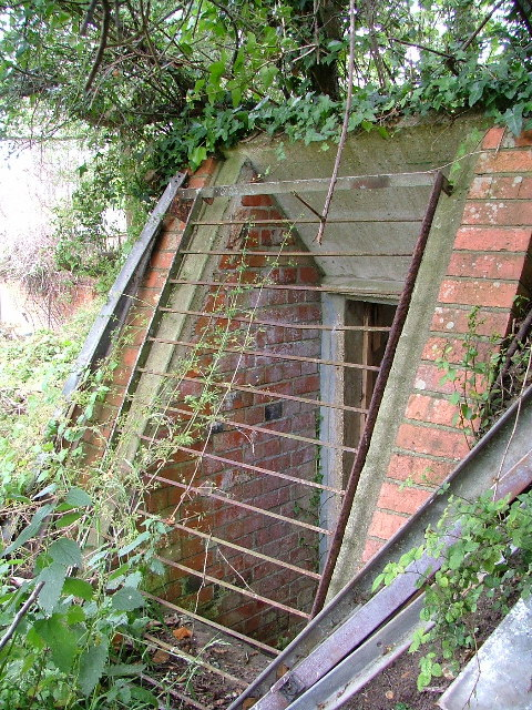 Entrance to St Helens school air raid shelter