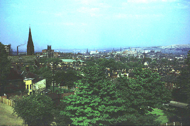 View over Sheffield in 1961.