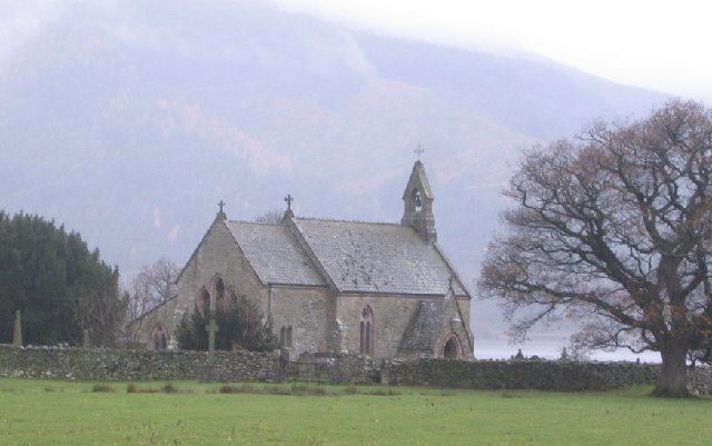 St Begas Church at Bassenthwaite Lake.