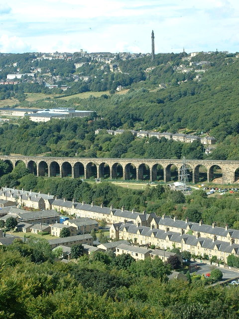 Copley Viaduct from Greetland Moor