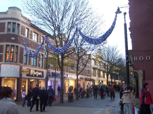 Christmas Lights, Lychgate, Worcester