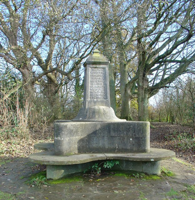 Monument, E Top of Park Hill, Reigate Abbey Park, Surrey