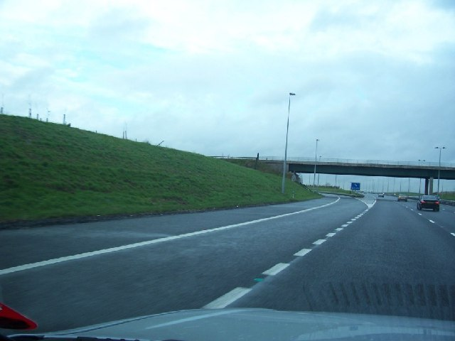 Exit T6 from the M6 Toll