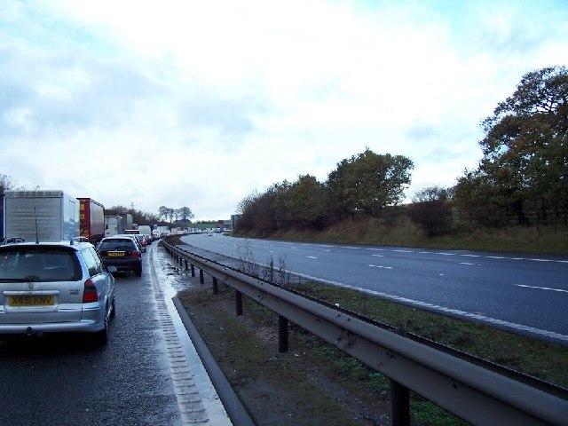 M6 Northbound Congestion.