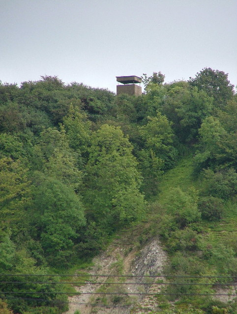 Wartime watch tower at Shide