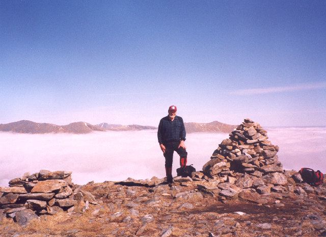 Cloud inversion from the summit of Gairich