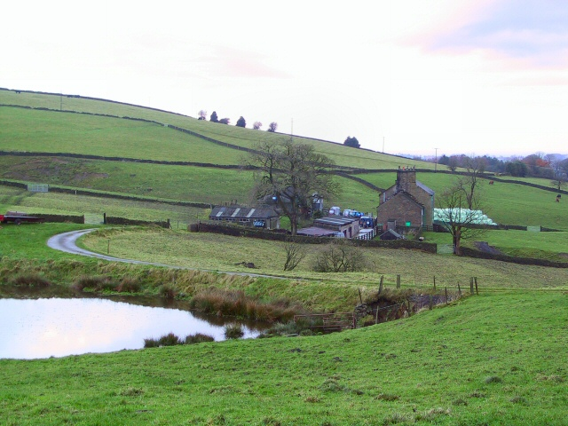 Farm at Longshaw Clough