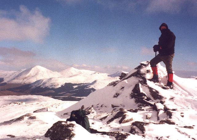 The summit of Beinn Dubhchraig