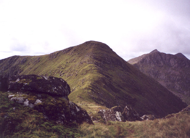 the summit of Sron an Isean