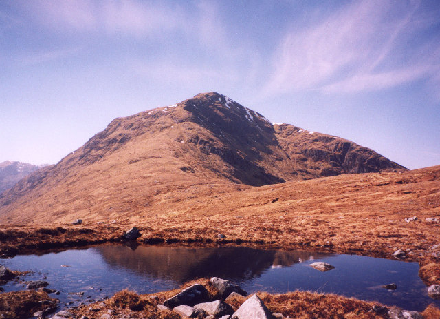 a lochan on the east ridge of Gairich