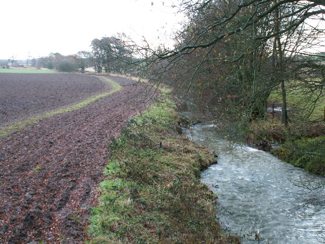 Cameron Burn and fields by Gilmerton