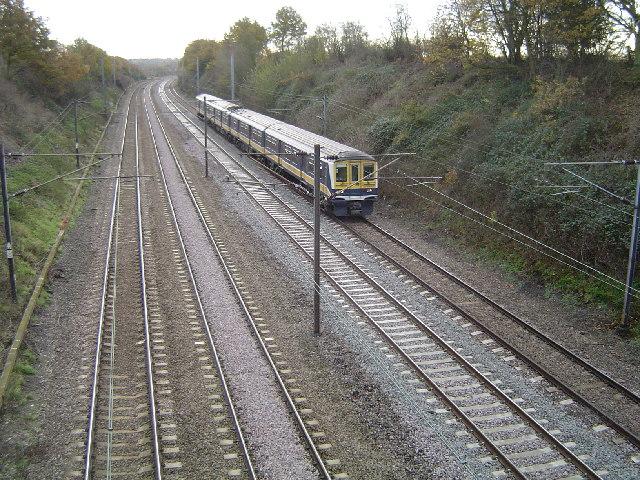 Railway line between St Albans and Harpenden