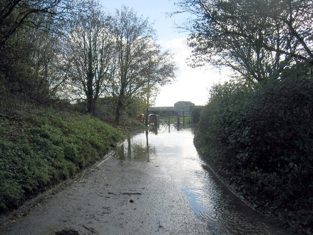Flooded lane