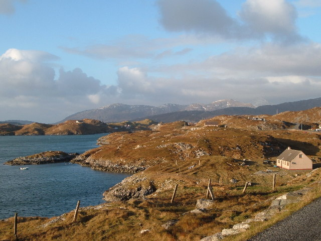 View from Scalpay, facing North West to the Harris hills