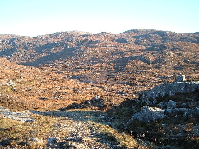 View North East over Glen Lacasdail