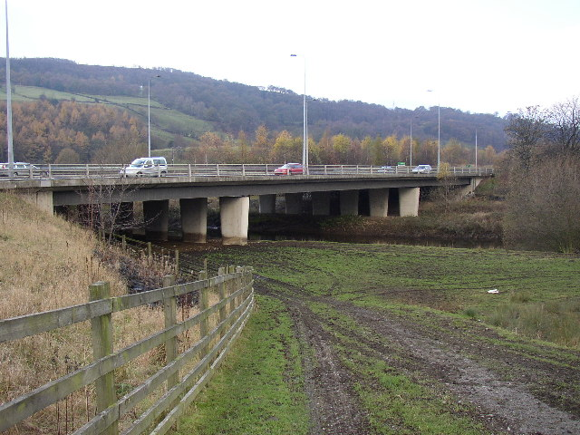 Aire Valley Road, Bridge over River Aire at Crossflatts, Bingley
