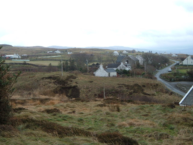 View looking South East back down Waternish