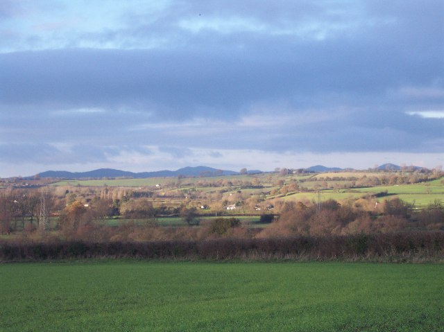 View of the Malvern Hills from Rodway Lane