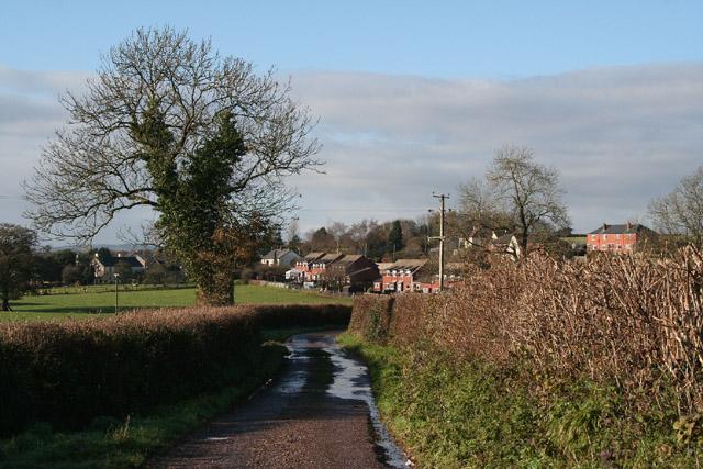 Halberton: nearing the village