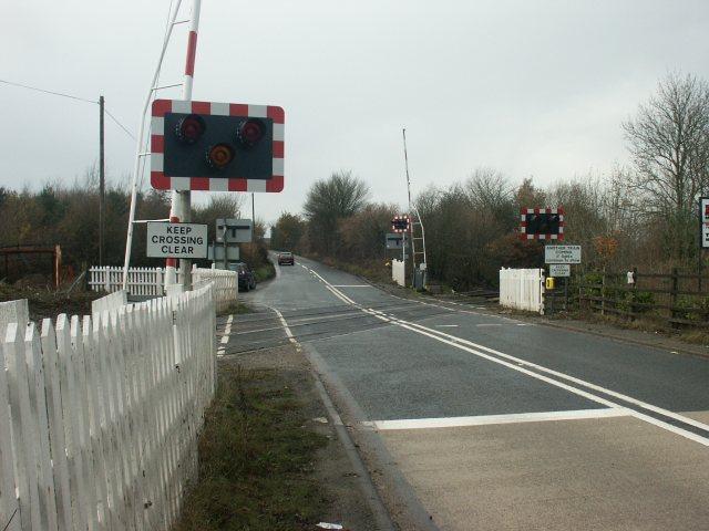 Level crossing, Bentinck Colliery