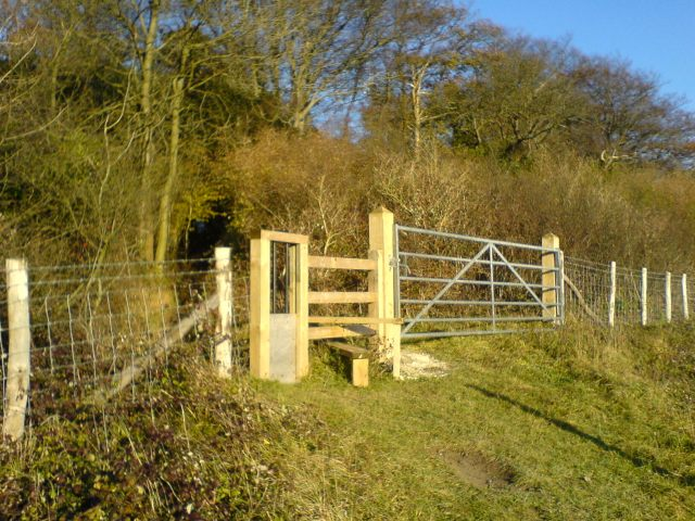 A Stile near Greenhill Wood