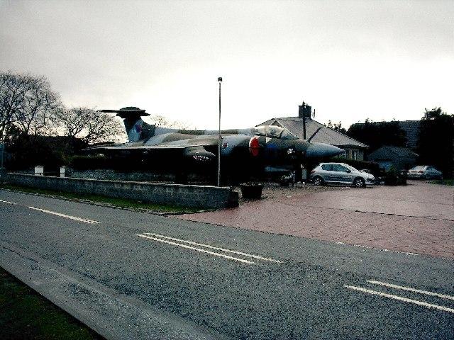 RAF Buccaneer  at Filling Station in Elgin