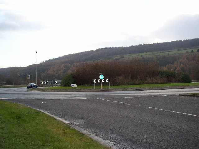 Roundabout on the Aire Valley Road, Crossflatts, Bingley