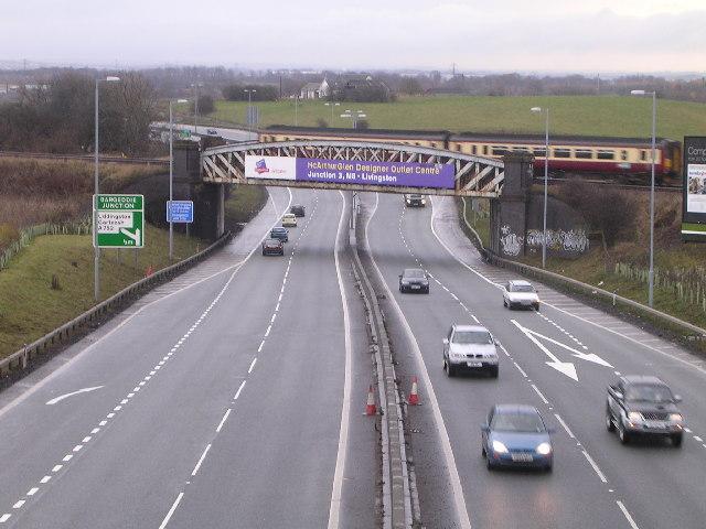 Railway Bridge across A8