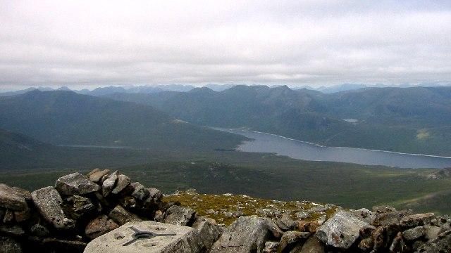 Loch Monar from Sgurr na Lapaich