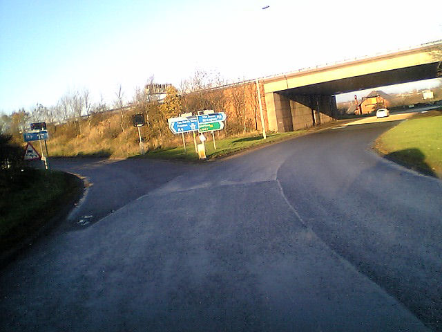 entry to the  N bound M6 Junc 13