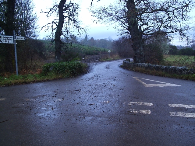 The Road Junction from Beauly to Kiltarlity