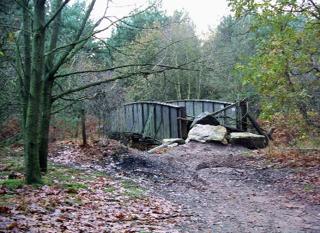 Bridge over old railway, Sherwood Pines Forest Park.