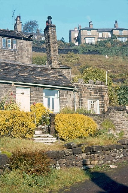 Cottage with leaning chimney, Lane End, Baildon (1963)