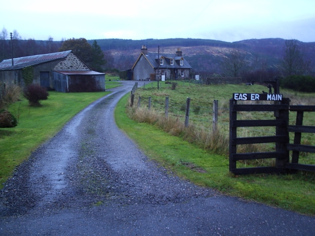 A Keepers cottage at Easter Main near Struy