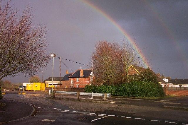 Rainbow over Wilcot Road