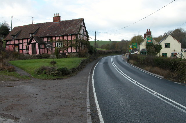 Upper Box Bush House and the Farmers Boy public house