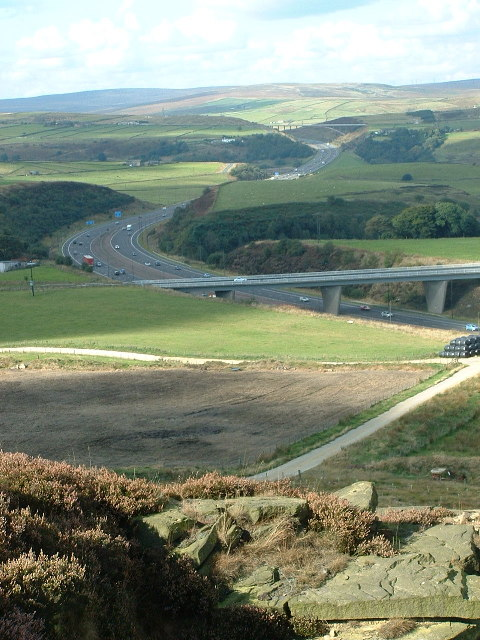 The M62 from Wholestone Moor