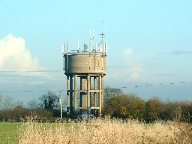 Spaldington,  Water Tower Beside the A614 Between Howden and Welhambridge