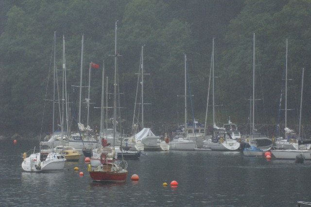 Yachts inTobermory Harbour