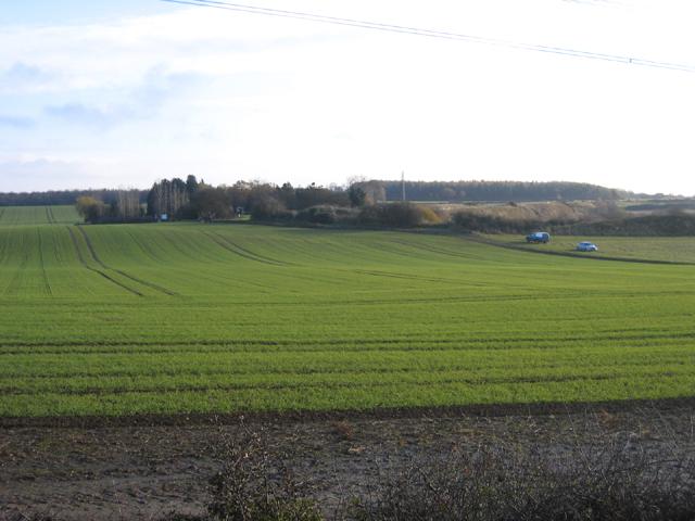 Rolling farmland, Helpston Heath, Peterborough