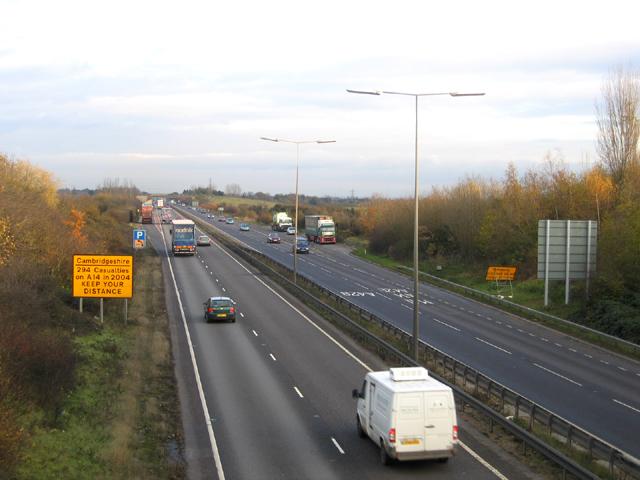A14 road, Girton, Cambridge