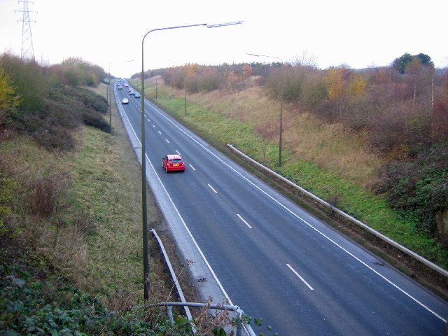 A164 near West Ella