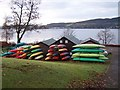 NS2685 : Gare Loch, canoes at Blairvadach by william craig