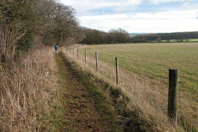 The Wardens' Way near Deadmanbury Gate
