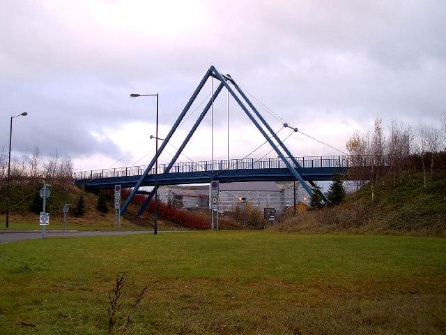 A frame footbridge, Rhydycar